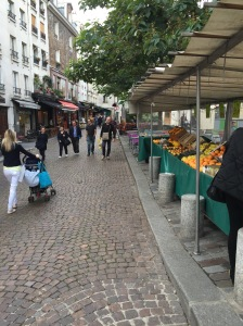 market on Rue Mouffetard, Paris